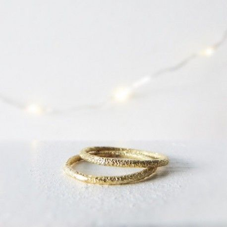Gold texture wedding band