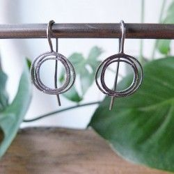 Silver earrings LIA