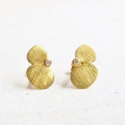 Gold and diamond earrings PÈTALS