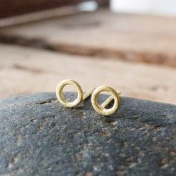 Gold circle earrings ELEMENTS