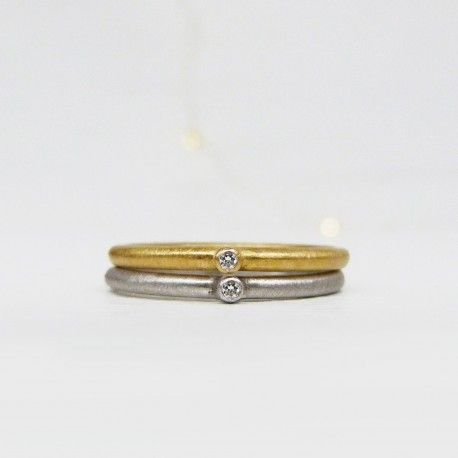 Anillo oro amarillo y diamante