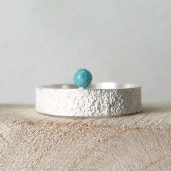 Narrow Sea silver ring