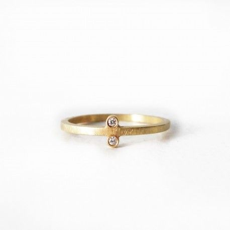 Anillo Mirror oro y 2 diamantes