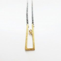 18 kts gold and diamond necklace ANTHEA
