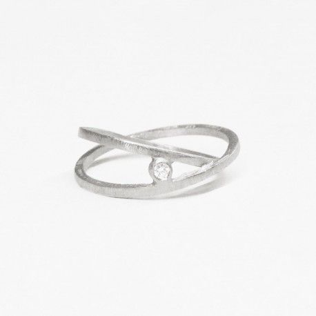 ATW diamond and silver ring