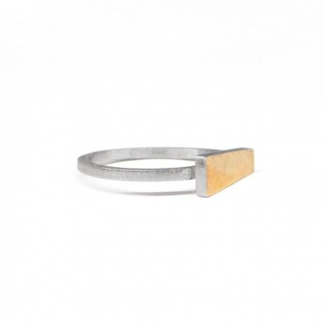Barcelona silver and gold ring