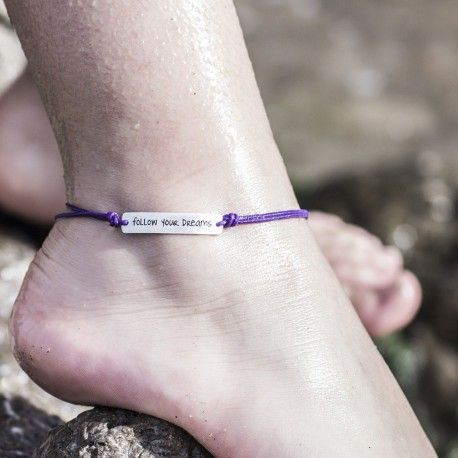 Tobillera FOLLOW YOUR DREAMS Pulseras